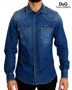 Dolce & Gabbana Authentic, brand new with tags Dolce & Gabbana Denim Shirt. Model: Casual denim shirt Color: Blue washed Full front button closure Logo Details Made in Italy Material: Cotton Viscose Polyester Elastane Slim Fit Casual Shirts, Dolce And Gabbana Blue, Western Shirts, Denim Shirt, Colorful Shirts, Front Button, Cotton, Color Blue, Amp