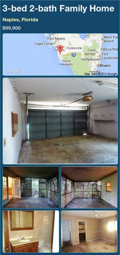 3-bed 2-bath Family Home in Naples, Florida ►$99,900 #PropertyForSale #RealEstate #Florida http://florida-magic.com/properties/75906-family-home-for-sale-in-naples-florida-with-3-bedroom-2-bathroom