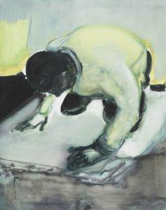 Marlene Dumas (b. 1953), Living on your Knees, 2010. Oil on linen, 100 x 80.6cm.