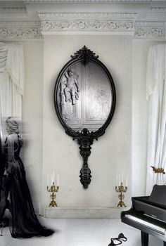@bocadolobo Marie Antoinette Mirror selected by @decoist  | Add this Large wall mirror in your living room decor | See more at http://www.brabbu.com/en/partners-products.php