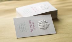 3D Embossed Cupcake Business Card #jukeboxprint