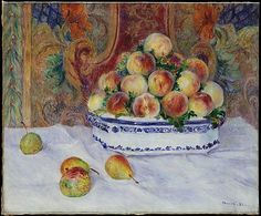 Still Life with Peaches - Auguste Renoir, 1881. The Metropolitan Museum of Art, New York. Bequest of Stephen C. Clark, 1960 (61.101.12)