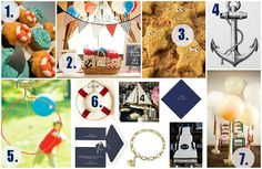 Clever Nest: Vintage Nautical First Birthday #cupcake #summer #beach #ocean #boat #water #toddler