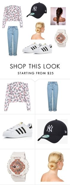 """""""Untitled #38"""" by susanaaloua on Polyvore featuring FLOW the Label, Topshop, adidas and New Era"""