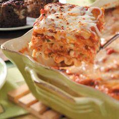Chicken Lasagna Recipe from Taste of Home -- shared by Dena Stapelman of Laurel, Nebraska