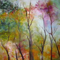Spring Time - Original Painting - Large Canvas in Acrylic - One of a Kind