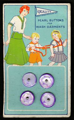 Dekorative originale alte Knopfkarte um 1910 -- Perlmutt-Knöpfe | eBay