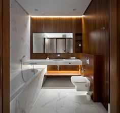 Designed by Ukrainian design studio NOTT Design, this elegant, minimalist apartment is located in a new residential complex in Dnepropetrovsk, Ukraine. Apartment Bathroom Design, Apartment Bedroom Decor, Bathroom Interior, Modern Master Bathroom, Modern Bathroom Design, Best Bathroom Designs, Bathroom Images, Bathroom Ideas, Minimalist Apartment