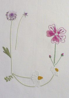 Field flowers alphabet - U | The French Needle | French Needlework Kits, Cross Stitch, Embroidery, Sophie Digard
