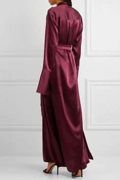 Michael Lo Sordo - Silk-satin Maxi Dress - Burgundy