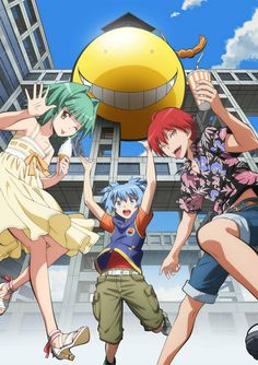 Assassination Classroom TV Anime Casts Jun Fukuyama, Tomokazu Sugita, Shizuka Itou