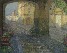 Henri Le Sidaner. The Boutique from the Porch