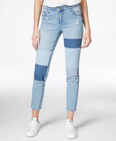 Rachel Rachel Roy Icon Patchwork Blue Combo Wash Skinny Jeans