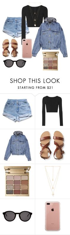 """~denim daydream~"" by simone89 ❤ liked on Polyvore featuring Levi's, Cushnie Et Ochs, Fear of God, Aéropostale, Stila, Natalie B, Thierry Lasry and Belkin"