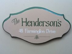 Custom Hand Painted Name and House number by APArtworksandDesign, $35.00
