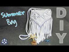 How to make Macrame Summer Bag DIY | SUMMER CRAFT BAG - YouTube