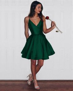 Short Satin V-neck Spaghetti Straps Prom Homecoming Dresses Item Description : Simple But Elegant V-neck Satin Short Dresses For Prom,evening,formal,engagement or any other special occasions! color available in:burgundy dresses short Semi Dresses, Hoco Dresses, Dance Dresses, Cute Dresses, Elegant Dresses, Wedding Dresses, Bridal Gowns, Semi Formal Dresses For Teens, Summer Dresses