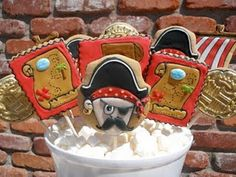 Oh Sugar Events: treasure chest Pirate Day, Pirate Birthday, Pirate Theme, Cut Out Cookies, Cake Cookies, Pirate Cookies, Cookie Recipes, Cookie Ideas, Childrens Party