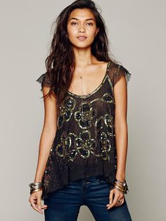 Free People Tritans Treasure Top, $149.95  I'm OBSESSED with this top! Someday, it will be mine!