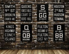 The line of prints called Flying Junction, modeled after subway and bus rollsigns from the early 1900s, uses hand-lettering techniques to make them look more authentically retro.