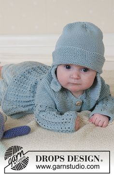 Seaport Baby / DROPS Baby 13-2 - Ingyenes kötésminták a DROPS Designtól Baby Knitting Patterns, Baby Boy Knitting, Knitting For Kids, Baby Patterns, Free Knitting, Baby Knits, Crochet Patterns, Crochet Baby Sweaters, Knitted Baby Clothes