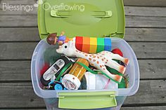 Travel Activity Box for Toddlers - Blessings Overflowing