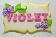 3-D Edible Fondant Name Plaque Cake by SugarKissCakeToppers                                                                                                                                                                                 More