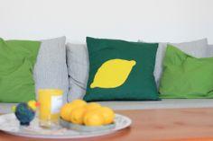How to home decor: Lemon Cushion Cover