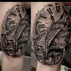 Résultat de recherche dimages pour stairs to clock tattoo Dna Tattoo, Wörter Tattoos, Neue Tattoos, Badass Tattoos, Finger Tattoos, Body Art Tattoos, Tattoos For Guys, Tattoo Symbols, Samoan Tattoo