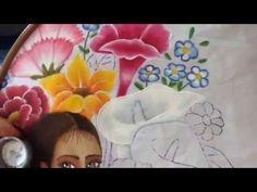 Pintura en tela vendedora de flores # 11 con cony - YouTube