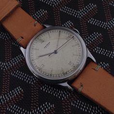 Movado 1940's rare Calatrava @iconicpieces.com #movado #patekphilippe #vintagelongines #iconicpieces #iconicpieces_com #watches #vintagewatches   #breguet #instawatch #horology #watchesofinstagram #instacool #bestoftheday #instagood #photooftheday #vintageluxury #vintage #watchstraps #style #leathergoods #watchlover #goyard