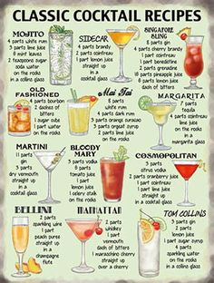 Classic Cocktail Recipes. #Home #bartending #cocktail #recipes #classic