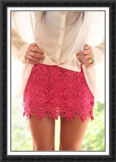 Awesome pink lace skirt