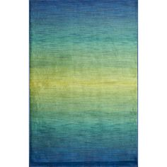 Inspired by the beauty of contemporary watercolor paintings, the Skye Monet Rug from Egypt is power loomed of 100-percent polypropylene, which will remain colorful for years to come.