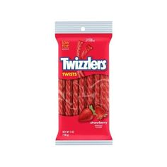 Twizzler Twists Strawberry Licorice, 7 oz Walmart.com ❤ liked on Polyvore featuring food, comida, snacks, еда and filler