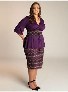Penelope Plus Size Skirt in Azalea - Separates by IGIGI #igigi #ALeBaronPlusModel