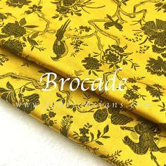 tissu asiatique. tissu oiseau jaune. Vendu par 50cm. SB100942 : Tissus Habillement, Déco par fabricasians