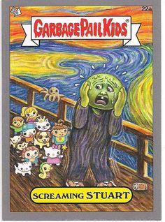 2012 Topps Garbage Pail Kids Screaming Stuart Sticker