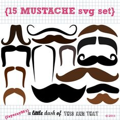 15 Mustache SVG DXF cut files by alittledashof on Etsy Silhouette Cameo, Silhouette Projects, Photos Booth, Photo Booth Props, Craft Kits For Kids, Crafts For Kids, Craft Ideas, Accessoires Photo, Foto Fun