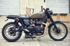 Triumph Scrambler has lots of potential for an edgier vibe. And Jim Good of Ohio was obviously thinking along the same lines when he set to work on his 2008 model bike. He's given the 865cc engine a power boost with a Wiseco 904 kit and K filters, and attached a low-slung D Thruxton TT exhaust system. He's also upgraded the suspension with Progressive components, with new fork springs and 970 Series piggyback shocks.