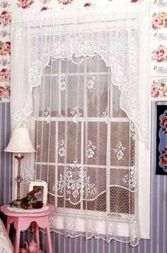 White Lace Swag Curtains | Discount Lace Curtains - Cheap Lace Curtains