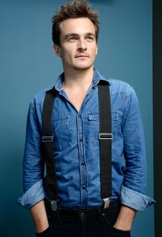 Rupert Friend... luggage straps for braces and all who cares still FIT! #TIFF #StarredUp