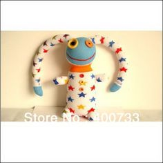 Christmas New Year Gifts free shipping 100% handmade DIY stuffed sock animals doll baby toys star pirate monster
