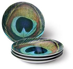 Peacock plates! I want them!!!!