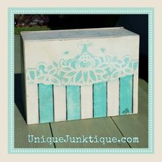Handpainted Breadbox by Brenda Young rearview