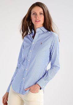 Luxe Polo Ralph Lauren KENDAL - Chemisier - blue/white bleu: 109,95 € chez Zalando (au 23/10/17). Livraison et retours gratuits et service client gratuit au 0800 915 207.