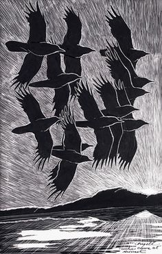 Flying Crows, Tony Angell