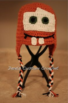 Disney Cars Mater Crochet Hat    Available in Size Newborn-Adult    LIKE my page on Facebook to see more styles            http://www.facebook.com/DanasCustomCrochet