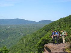 Me and my high school friends used to drive to Haines Falls, NY, to hike to Artists Rock, in the Catskill Mountains.