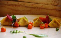 Ravioli stuffed with carrot and peas- Taj Rambagh Palace
